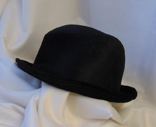 Fekete Bársony Chaplin Kalap Dekorkuckó 7b0ce1baed