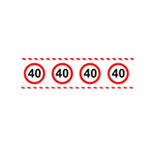 Sebességkorlátozó Kordon Szalag - 40. születésnapra Dekorkuckó ebd24b1d2b