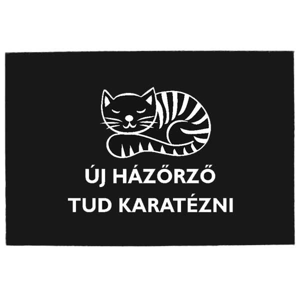 Lábtörlő - Cicás - Új Házőrző Tud Karatézni Dekorkuckó eabf6abe8f