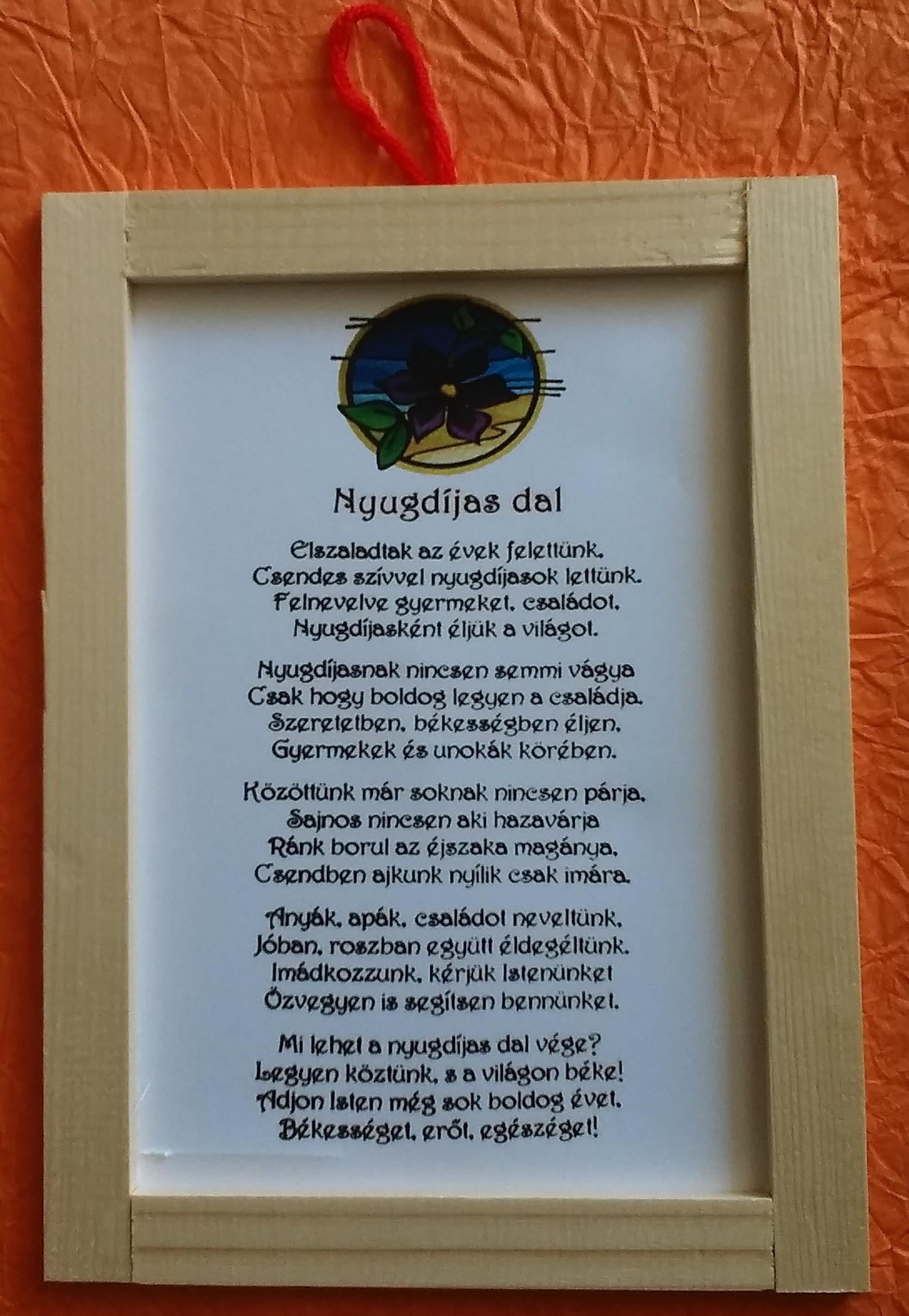 versek idézetek nyugdíjas búcsúztatóra Nyugdíjas Dal   Nyugdíjas Ajándéktábla/Dekorkuckó