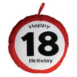 Párna - Plüss - 18. Születésnapra - Sebességkorlátozó - Happy ... 0400b51720